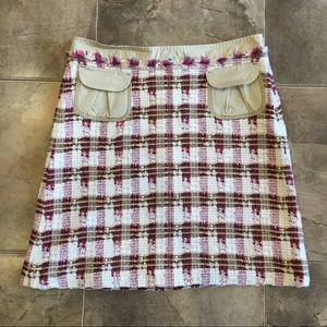 Escada Sport Tweed Cargo Pocket Skirt Pink 36/S